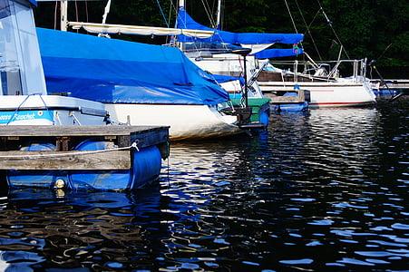 bota, vaixell, oci, cap setmana, l'aigua, vela, barca de rems