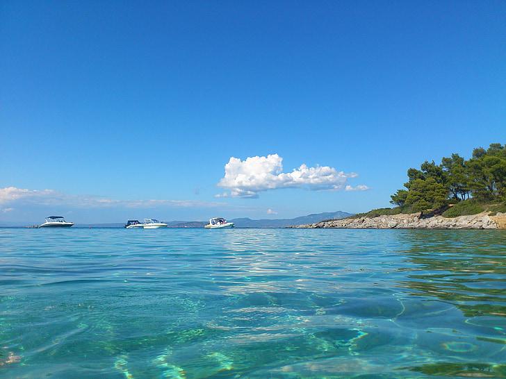 sea, boat, travel, landscape, holiday
