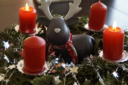 Advent, Advent pärg, pärg, kaunistatud, enne jõule, jõulud, Küünlad