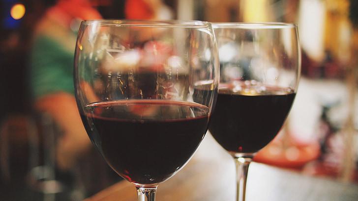 ไวน์, แว่นตา, กลางแจ้ง, คาเฟ่, ร้านอาหาร, พักผ่อนหย่อนใจ, สะท้อน