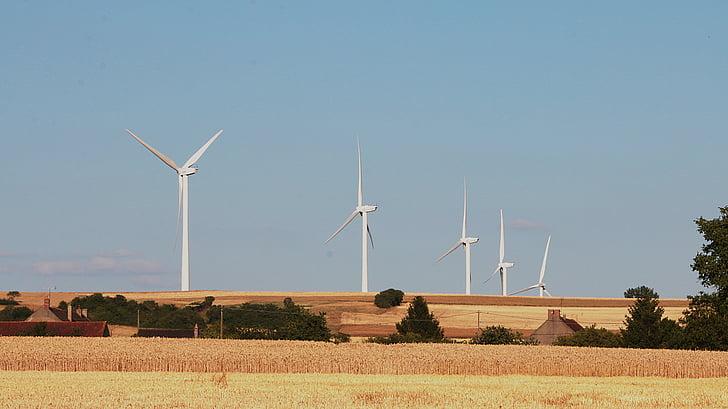 éoliennes, électricité, énergie, tension, électrique, vent, énergies nouvelles