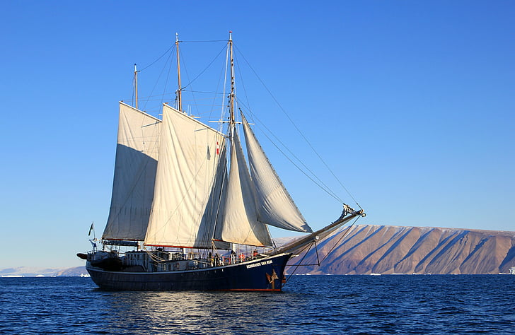 sejlbåd, skib, sejlads, Grønland, båd