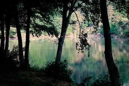 contrastos, Llac, torna la llum, idíl·lic, Senderisme, ambient, matí