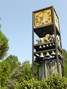 animals, zoo, clock, statuettes, zoo animals