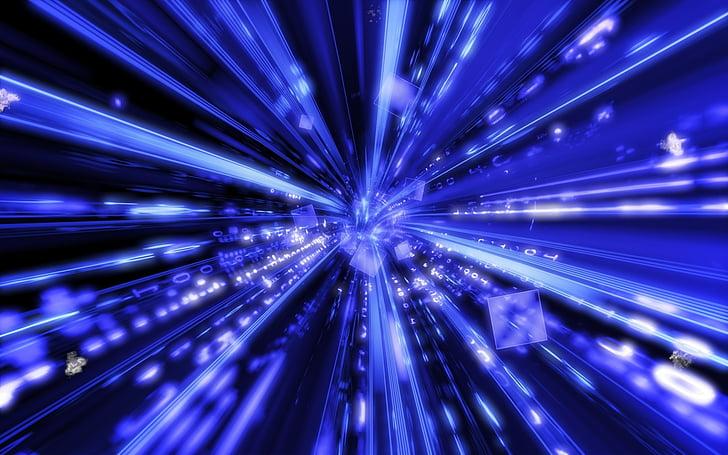 wormhole, teadus, auk, portaal, valgus, abstraktne, sinine