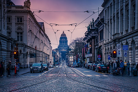 city, street, urban, road, building, town, architecture