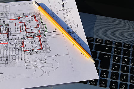 building plan, laptop, visit, plan