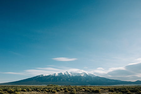 Sky, hory, Príroda, horskej krajiny, modrá, scenérie, Sunny