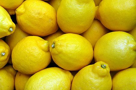 llimones, groc, aliments, fruita, fresc, cítrics, Orgànica