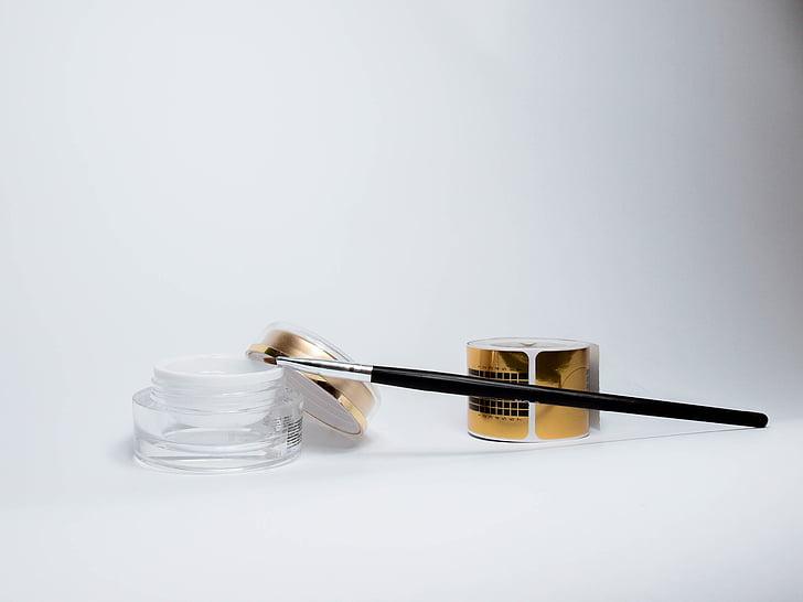 gel, manikyr, pensel, mal, pedikyr, skjønnhet, intervensjon