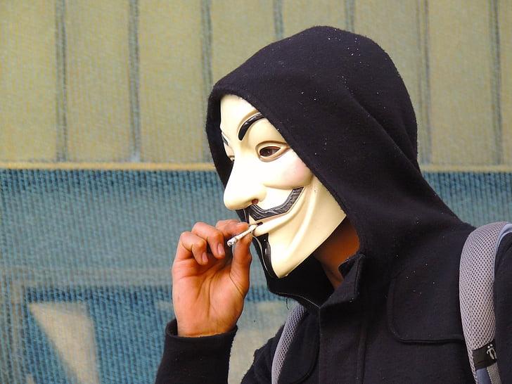 anonīmi, maska, smēķēšana, sievietes, Islam, cilvēki