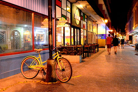 bicycle, path, restaurant, architecture, cities, urban, city