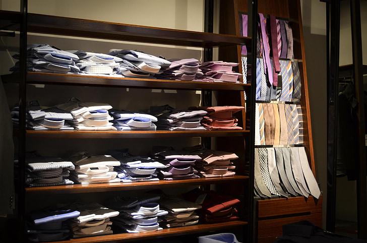 shirts, exhibition, shop, shopping, shelf, buy, business
