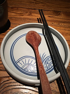 vaixella, gurmet, plat, Xina, Àsia, fusta - material, taula