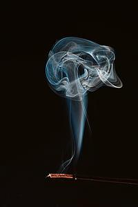 дим, вогонь, колір, куріння, дим - фізична структура, чорний фон, рух