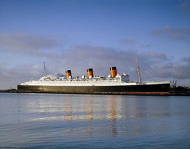 drottning mary, fartyg, kryssning, havet, vatten, Ocean, fartyg