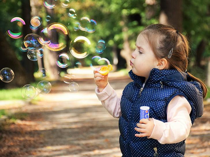nen, nen, feliç, diversió, felicitat, nens, noia
