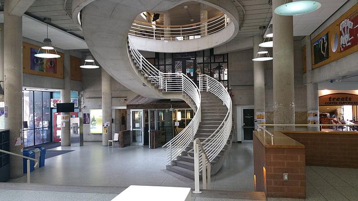 arhitektuur, ülikoolihoone, siseruumides, York university, disain, kaasaegne, siseruumides