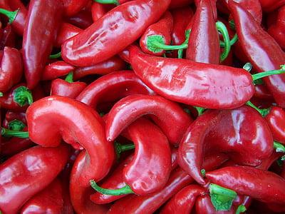 papar, Crveni, povrće, povrća, hrana, začin, svježinu