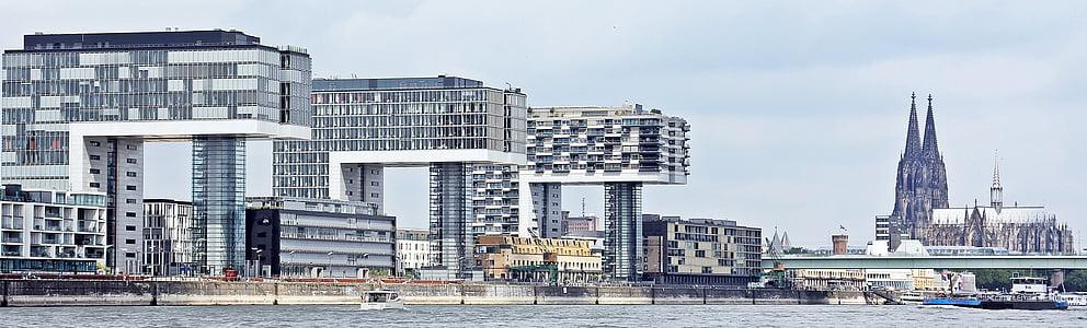 cần cẩu nhà, kiến trúc, Nhà thờ Cologne cathedral, Cologne, hiện đại, xây dựng, kính cửa sổ