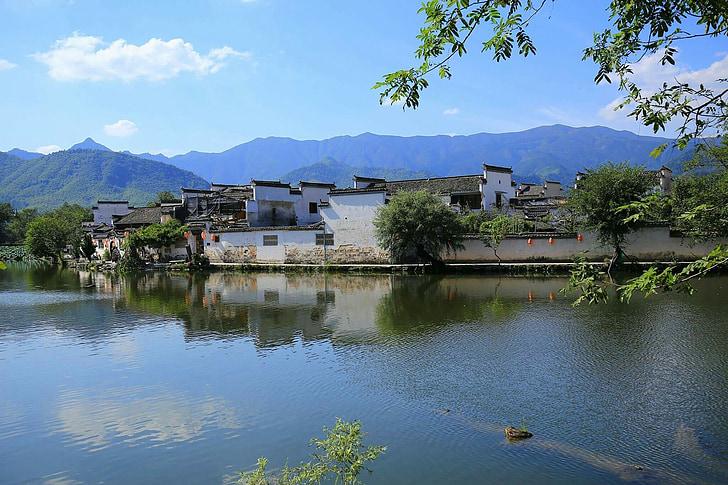 Kina, Huangshan, sjön