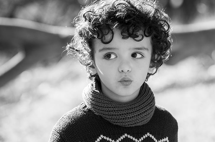 children, black and white, portrait, happy, tender, happy children, children only