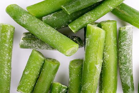 bevroren bonen, bonen, groen, heerlijke, vers, plantaardige, keuken
