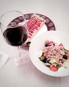 večera, hrana, vino, crno vino, čokolada, hrana i piće, piće