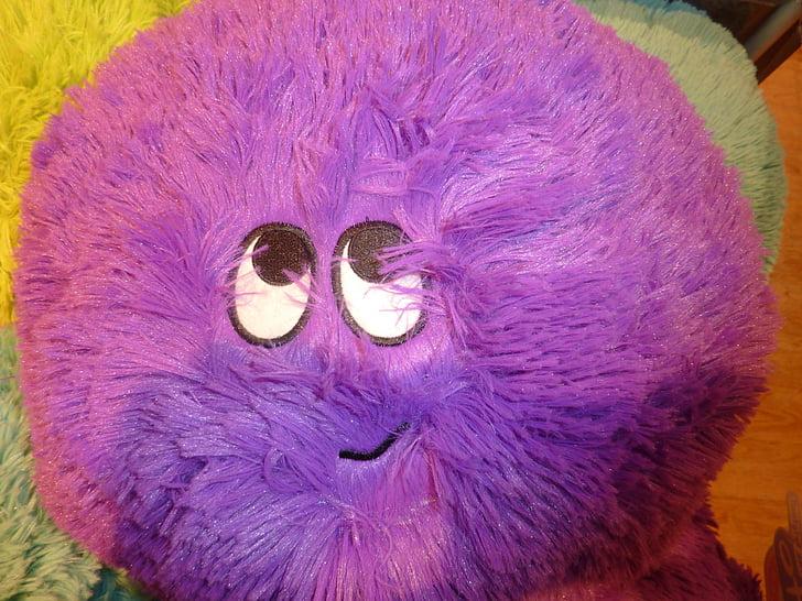 face, purple, friendly, joy, eyes, violet, button eyes
