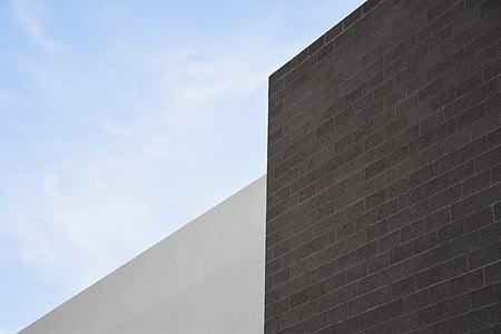 arquitectura, mínima, cel, minimalisme, moderna, arquitectònic