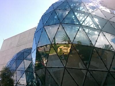 Dalí muzeum, florida st petersburg, Architektura, moderní, koule, sklo