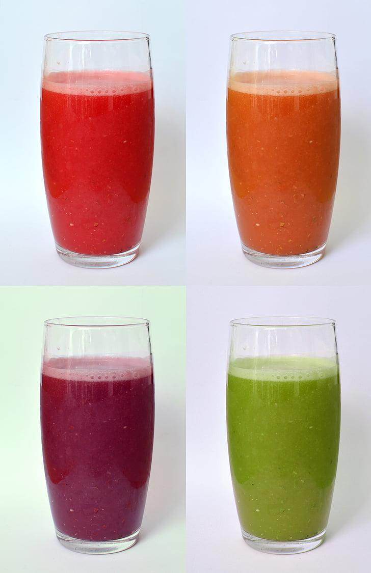 vidre, got de suc de, suc, beguda, vermell, got d'aigua, vidre - material