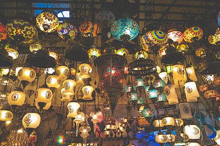 灯具, 灯, 大市集, 商店, 市场, 伊斯坦堡, 土耳其