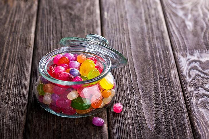 бонбони, шекерчета, бонбони, карамел, десерт, храна, цветни