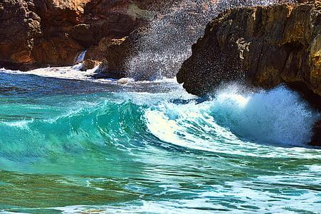 l'aigua, ona, navegar per, Mar, natura, Costa, penya-segat