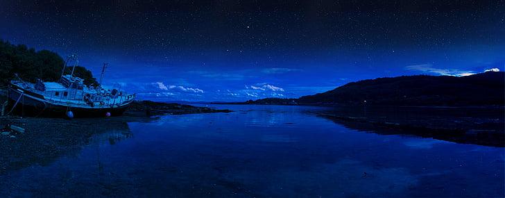 Šotimaa, tähed, Mulli saar, Highlands, öö, taevas, Šoti