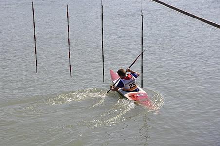 canoeing, paddler, paddle, kayak, water, paddle boat, leisure