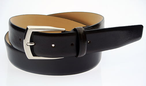 belt, brown, leather, white background, studio shot, drink, no people