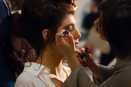 expocosmética, dones, pintura facial, cosmètica, model de, persones