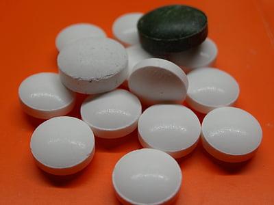 tabletter, piller, medisin, sykdom, velsigne deg, legen, kapsel