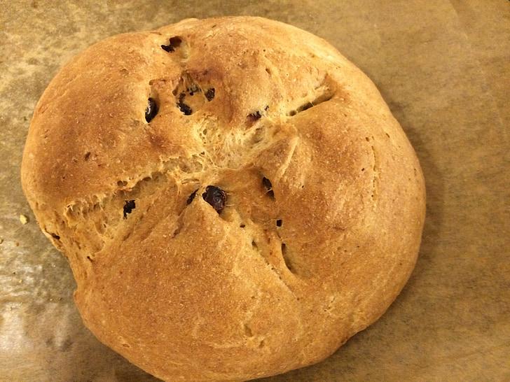 pärmi leib, leib, Rosina leib, lihavõtted palmik, isegi küpsetatud, Omatehtud, süüa