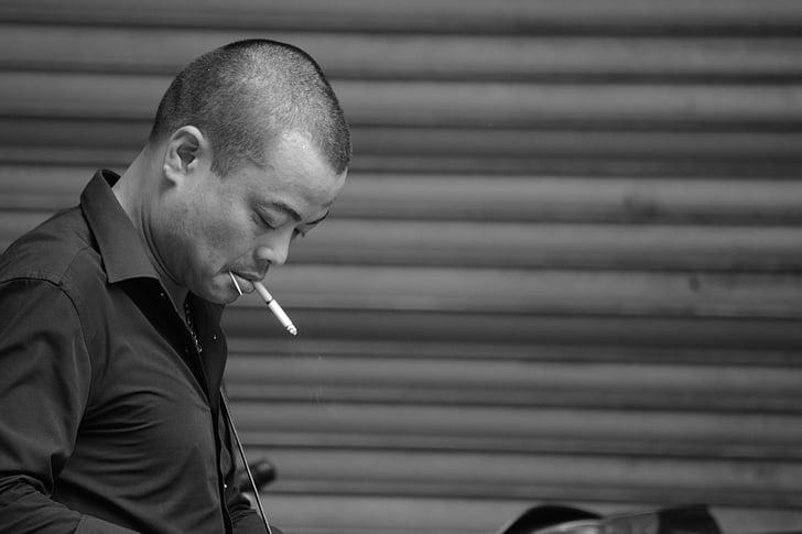 Камбоджа, път, мъж, тютюнопушенето, човешки