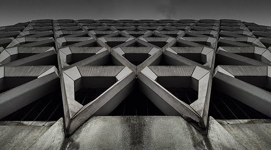 architecture, building, abstract, background, design, concrete, grey
