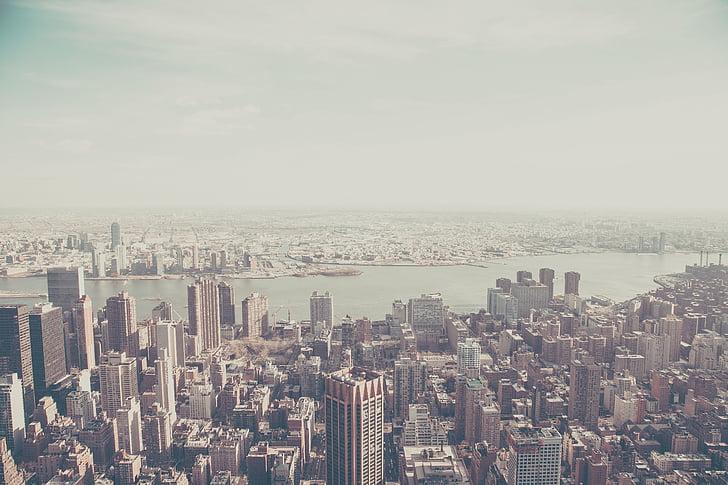 aerial, photo, city, building, downtown, build, buildings