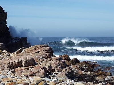 Costa, natura, oceà, roques, rocoses, Mar, marí