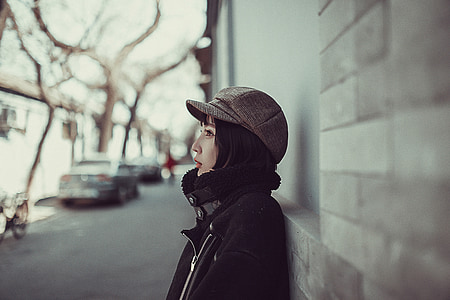 dona, model de, carrer, bellesa de Pequín, bellesa, bellesa xinesa, estudiant universitari