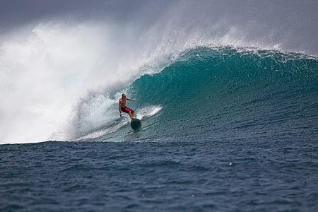 grans onades, surfista, poder, valentia, perill, Ombak tujuh Costa, l'illa de Java