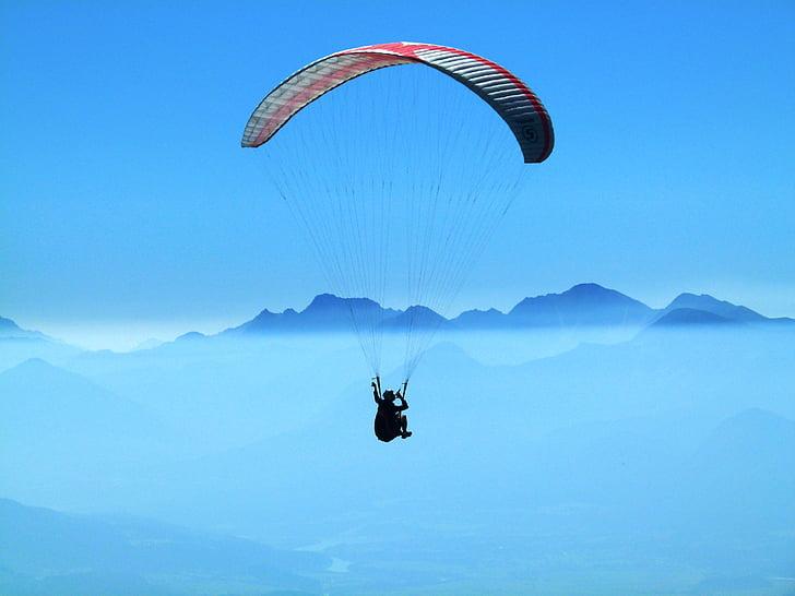 Gerlitz-breen, fjell, om morgenen, paragliding, daggry, ekstremsport, sport