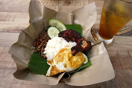 Nasi, lemak, Malàisia, aliments, asiàtic, cuina, anxoves