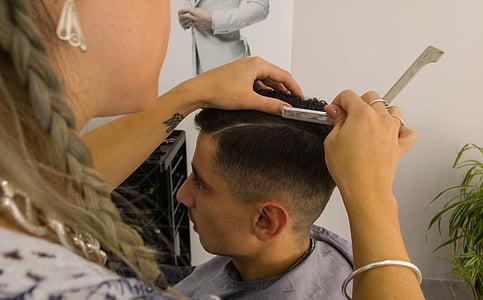 Perruqueria, Tall de cabell, navalla d'afaitar, Perruqueria, pentinat, Saló de pèl, cabell humà